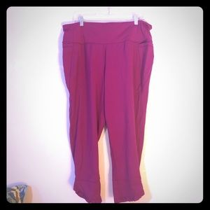 Dark Pink 7/8 Leggings Ruffle Hem 22/24